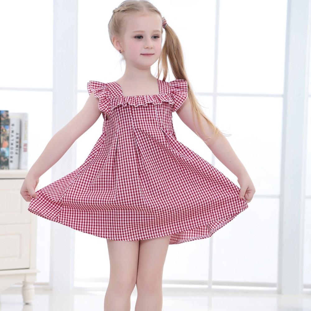 Wholesale Summer New Model Little Girls Cotton Dress For Children ...