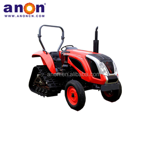 ANON 4*4 wheel farm rubber track crawler tractor cheap compact tractor