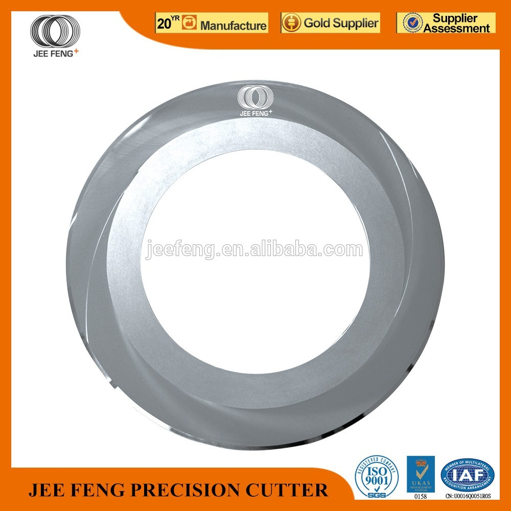 JeeFeng high sale Tungsten carbide circular knife with single bevel