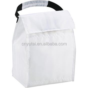 White Plain Color Frozen Lunch Bag Yt Cb0041