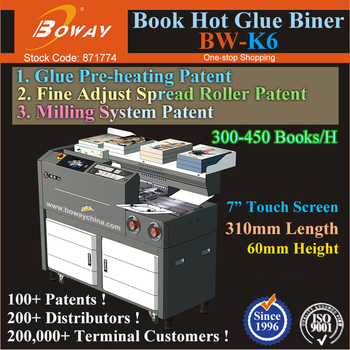 K6 Printshiop 310mm L 60mm H Perfect Book Heating Adhesive Glue Bidding Plan Bid Document Binder