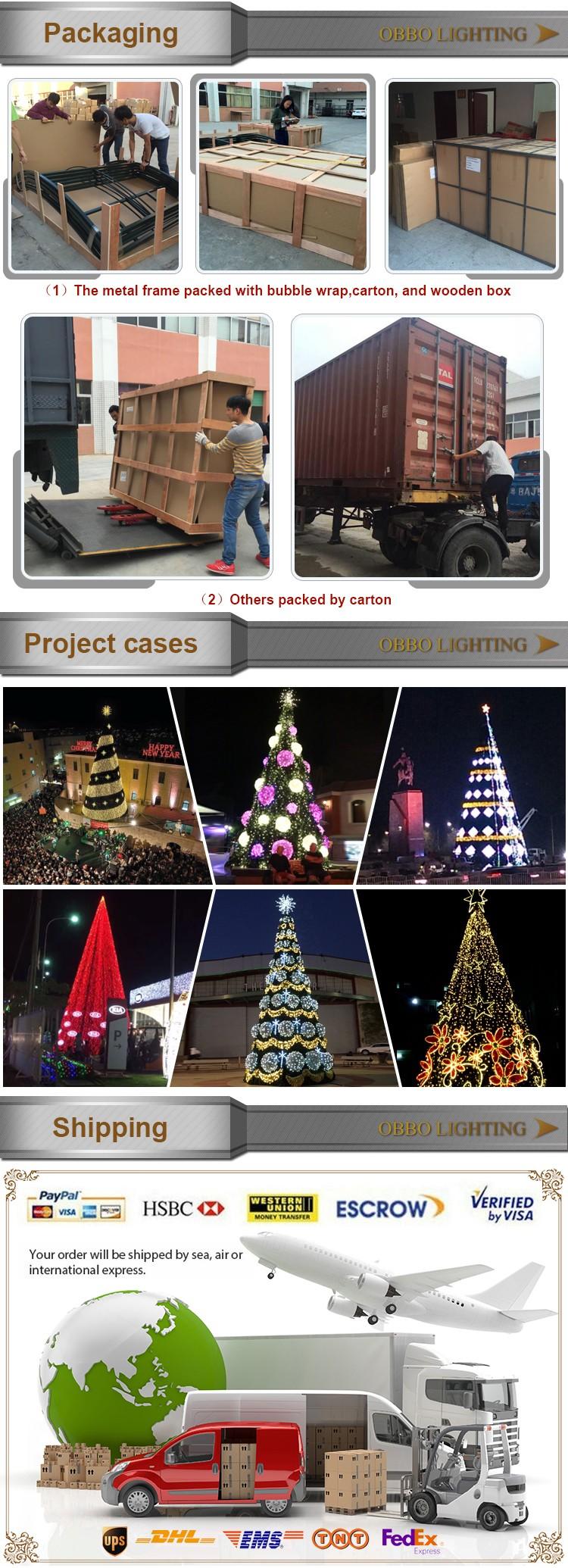6 Medidor Metal Artificial Gigante Árbol De Navidad Ornamento ...