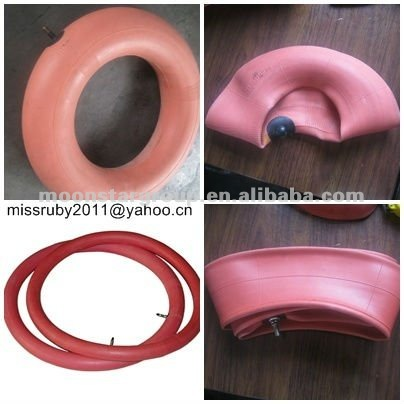 325/350-18 high quality motorcycle natural rubber red inner tube