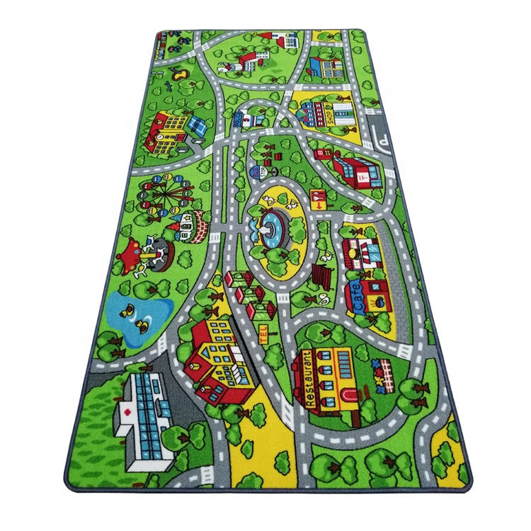 Country Road City Map Play Mat