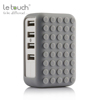 Trade assurance worldwide travel smart charging 4.8A share output wall multi usb port charger dock