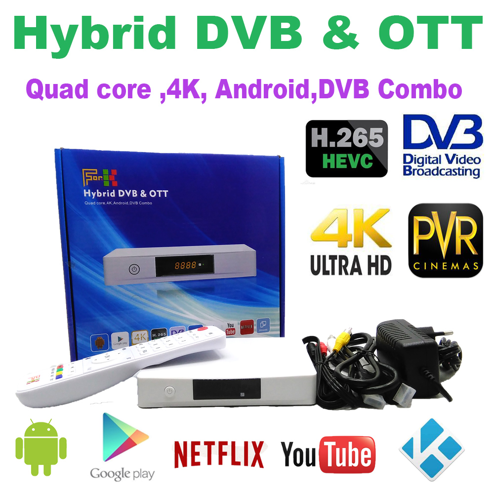 Android DVB-S2 DVB-T2 in set top box, <strong>Satellite</strong> decoder <strong>receiver</strong>,Quad core 4K Android Combo box supporting DVB and OTT
