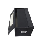 luxury matte black anti-scratch magnetic 2 door open wine gift box champagne box