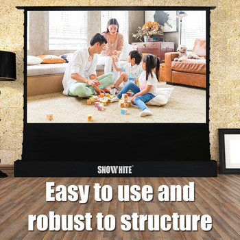 SnowHite custom 16:9 electrotelescopic tension floor projection screen