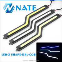 2014 New Products 100% Waterproof Aluminum Led COB DRL Auto Daytime Running Lights Z-shape7W cob