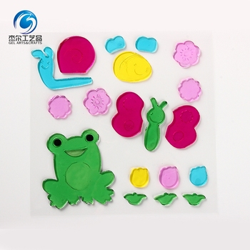 2018 Hot Selling Spring Everyday Gel Sticker Glass Sticker Art Decorations