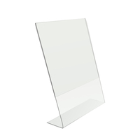 8.5 X 11-Inches Thick Acrylic Slant Back Sign Holder, Brochure Holder