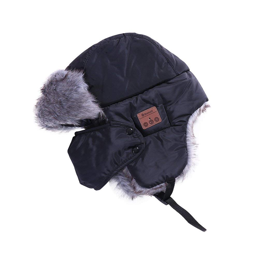 4a450184fa3 Get Quotations · Docooler Wireless Bluetooth hats New Winter Music Hats Ear  Flaps Fur Caps Masks Scarf With Detachable