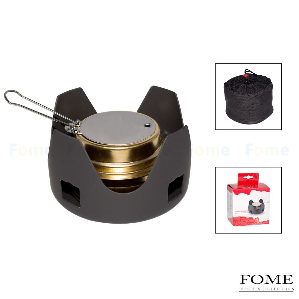 Mini Burner Alcohol Stove, FOME SPORTS|OUTDOORS CS-B02 Mini Burner Alcohol Stove Outdoor Portable Hiking Camping stove One Year Warranty