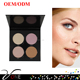 wholesale makeup face glitter 4 colors glow kit with magnetic cardboard palette, illuminator makeup highlighter