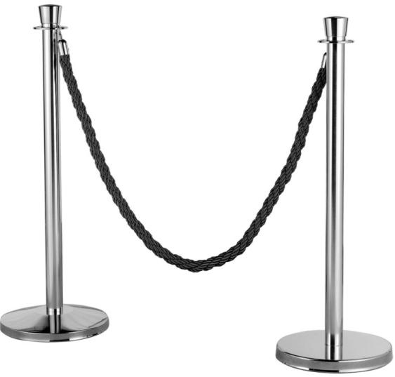 Urn top Chrome event barrier ,stand barrier,Queue Rope Barrier