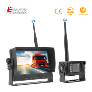 Hot! wireless car back up system 7 inch monitor+car rearview wireless camera
