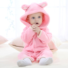 Pink baby clothing set kawaii coat jumpsuits winter romper for infant
