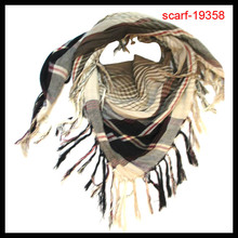 2014 office ladies square plaid pattern scarf