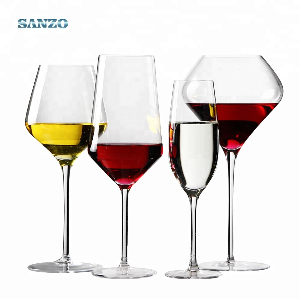 SANZO Hot sale 2019 New Professional Lead Free Crystal Red wine glasses set Customized with Wholesale