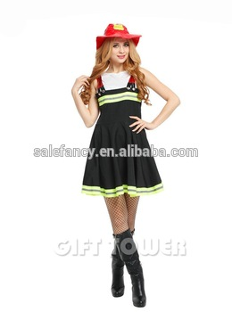 firefighter costume womens sexy fireman firewoman halloween fancy dress costumes qawc 3346 - Fireman Halloween