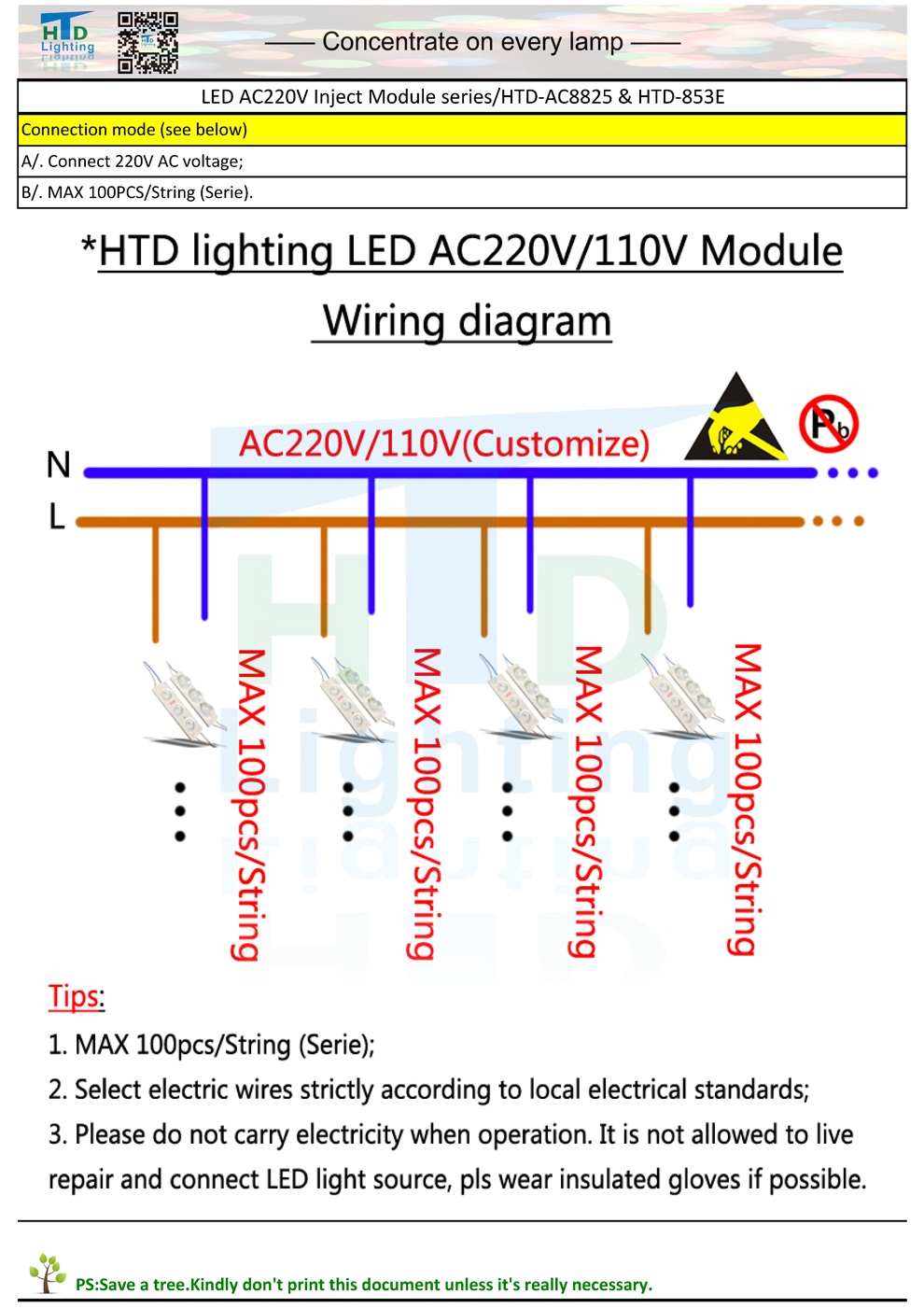 High Brightness Led 220v Module Ac220v 3w Side Wiring Diagram Lighting