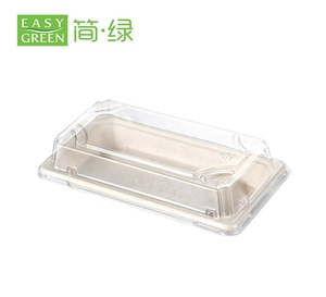 Easy Green Wholesale Disposable Take Away Compostable Food Container Sugarcane Paper Pulp Tray