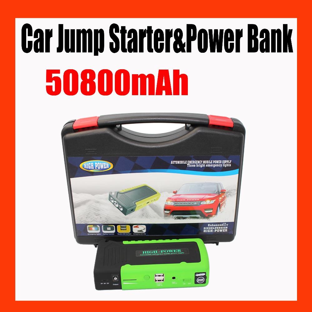 50800mah mobile portable charger car rechargeable jump starter 12v diesel engine starting device. Black Bedroom Furniture Sets. Home Design Ideas