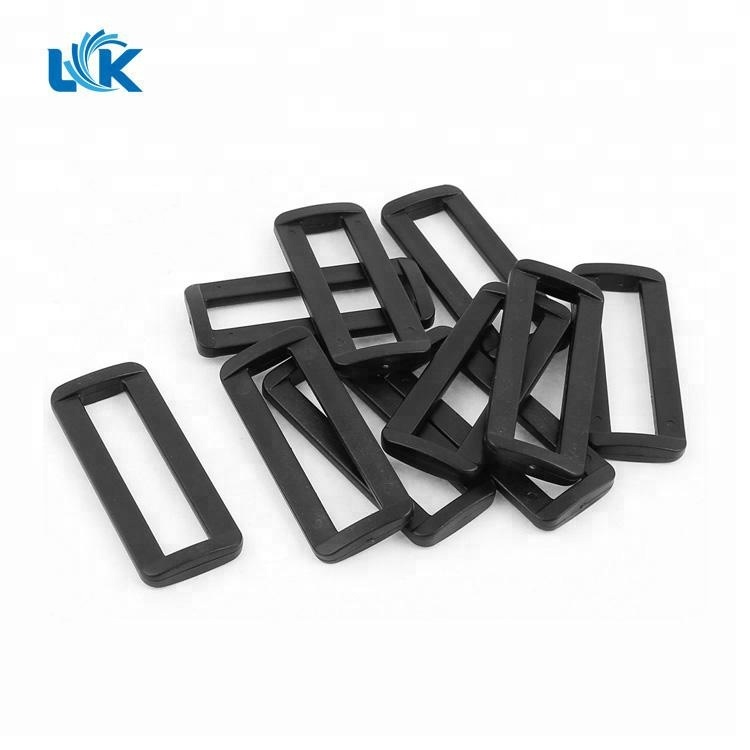 10pcs 2 Webbing Plastic Black Tri-glide Slider Adjust Buckles For Outdoor Backpack Strap Garment Webbing Bag Parts Accessories Superior In Quality