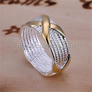 Wholesale Sterling Silver Plated Mark 925 Stamp Women Unique Rings Band Jewelry