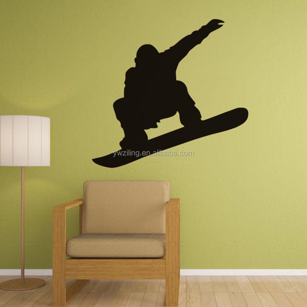 Sympathisch Wandtattoo Basketball Galerie Von Ya213 Ski Pemain Silhouette Laki-laki Desain Stiker