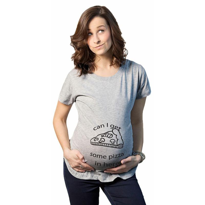 Лето свободного покроя забавный беременным футболки топы футболки блузка беременности женщины