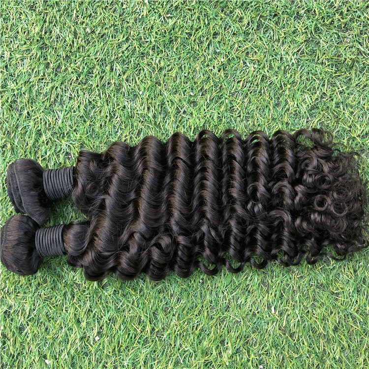 High quality grade 9A cuticle aligned hair 100% unprocessed Brazilian human virgin hair, Natural color #1b