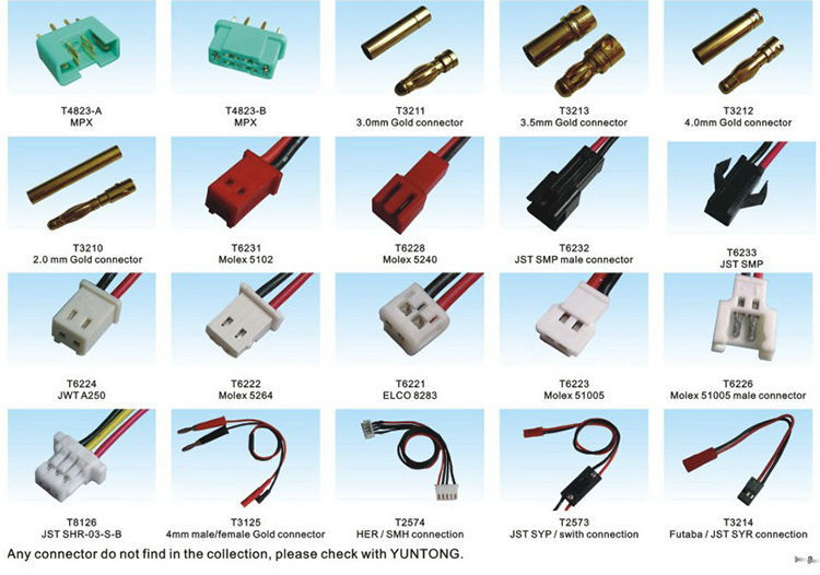 Rc Battery Connector Chart Brook
