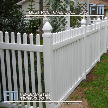 White Pvc Fence Panels/ Pvc Garden, Yard And House Fence