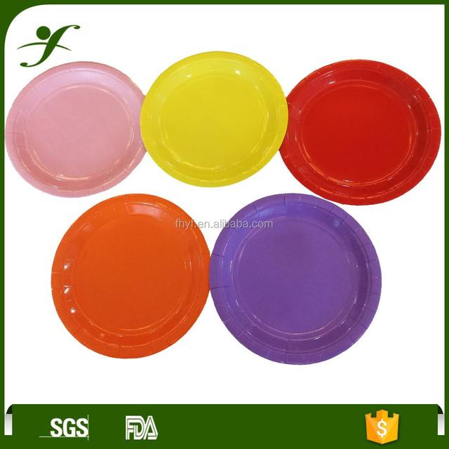 5u0026quot; star shape paper plate plain solid colour party tableware  sc 1 st  Alibaba & paper plates coloured-Source quality paper plates coloured from ...