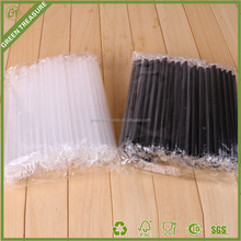 plastic milkshake straight straws wholesale black straws biodegradable transparent straws for smoothie
