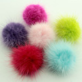 10pcs 40mm real mink fur ball fur pom poms accessories Free Shipping
