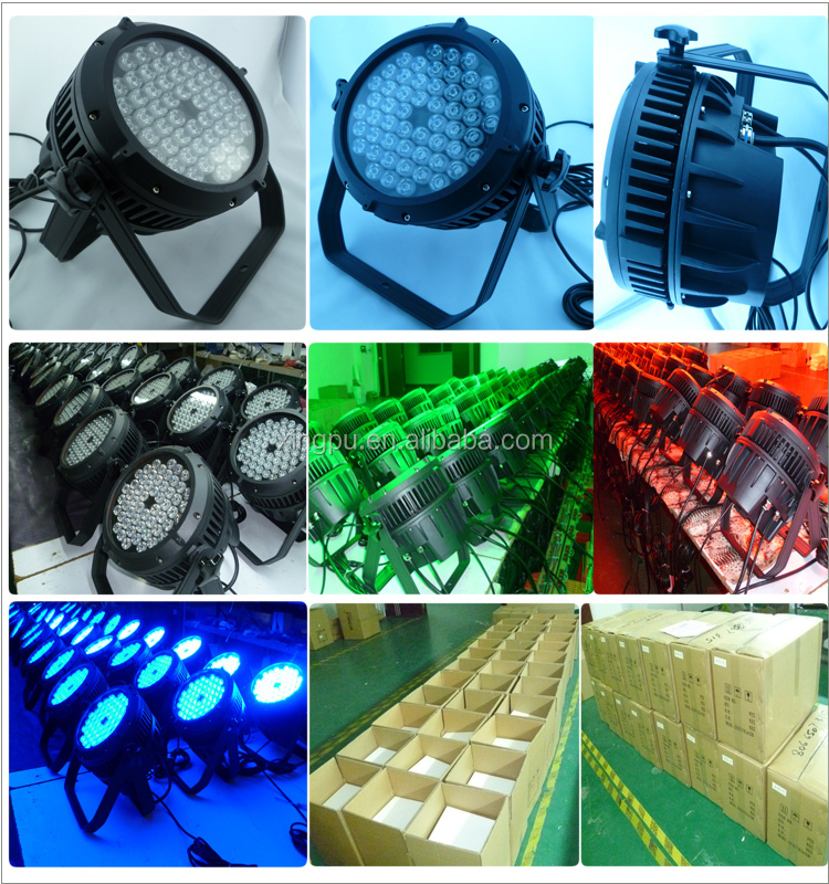 2017 Hot selling Outdoor Round 72W led rgb light support dmx512 controller