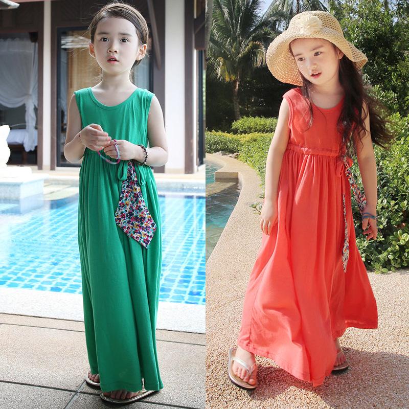 Vestidos largos de verano para ninas