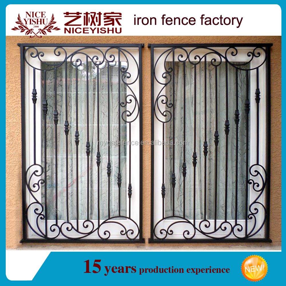 2016 ltimas barato simple moderna de hierro negro ventana for Exterior window grill design