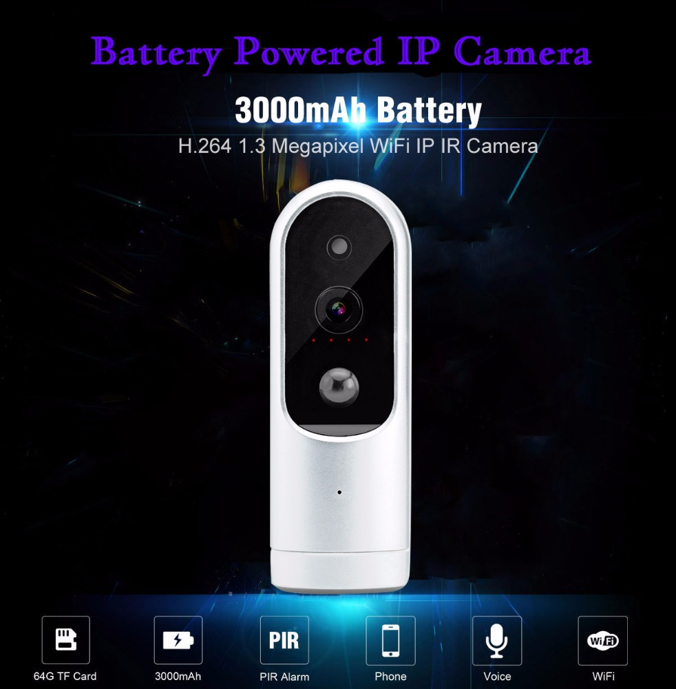 2017 Hidden IP Outdoor Wifi Waterproof Battery Powered Wireless IP Camera