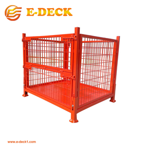 Warehouse storing galvanized metal cage pallets