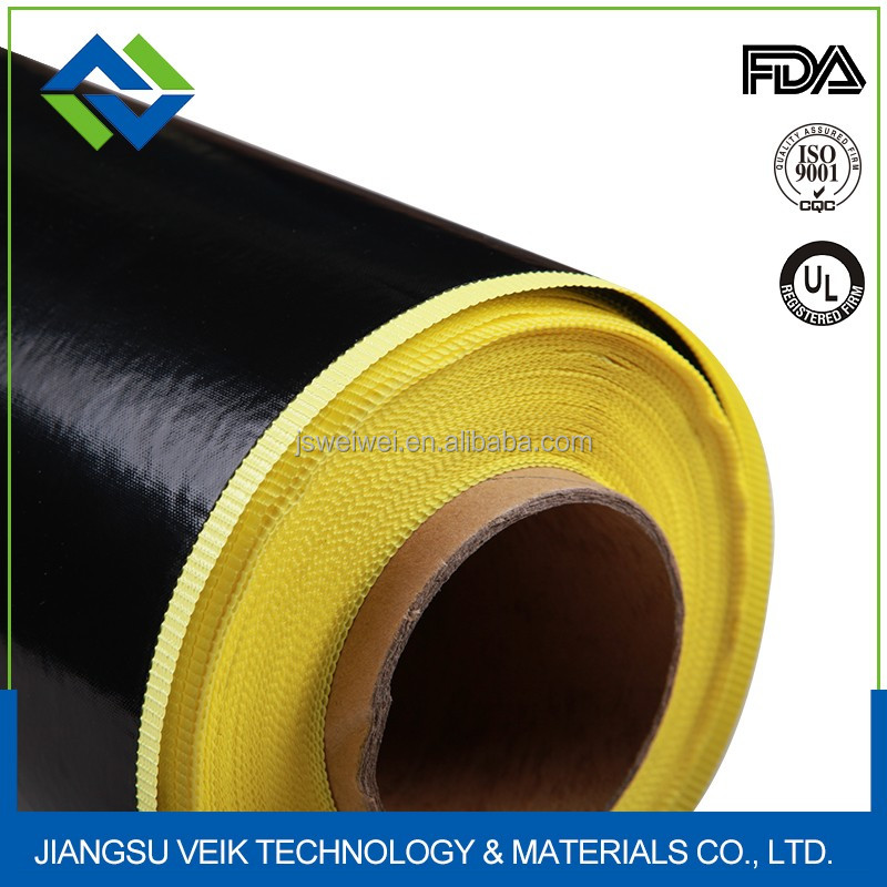high quality 0.40mm thinckness brown Single Sided Adhesive Side PTFE Teflon Fabric Tape for Sealing and Vacuum Machine