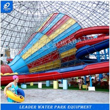 Best Price fibreglass water slides factory in china+multi color fiberglass water park slides