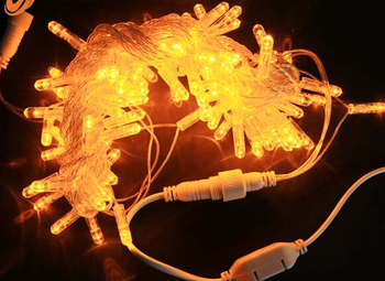 10m connectable 5mm led christmas lights wholesale string yellow anti cold bubble pvc