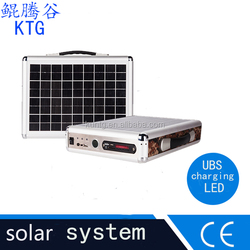 High quality mini solar power generator/portable solar system/solar generator for home and camping