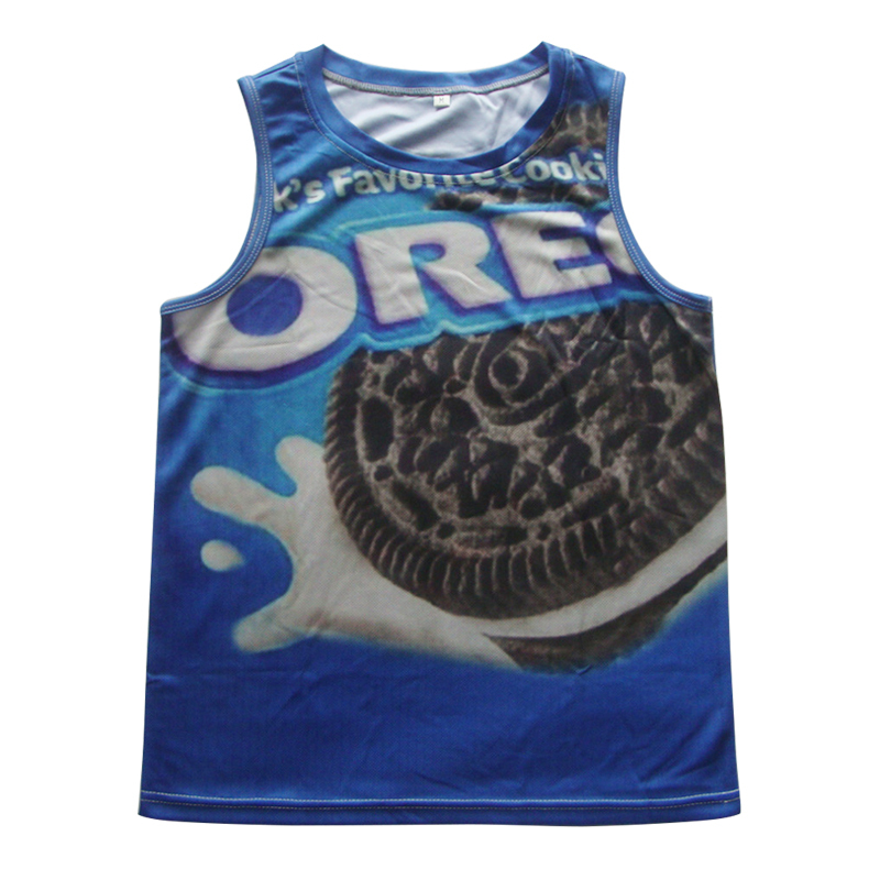 Buy Size S 6xl New 3d Bodybuilding Sport Vest Ice Cream Oreo Simpson Emoji 100 Print Undershirt For Men Boy Gym Cool Tank Top In Cheap Price On Alibaba Com