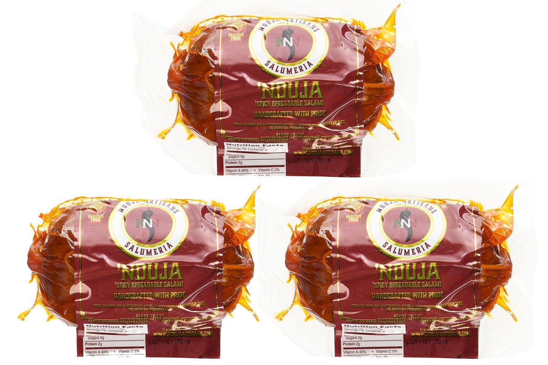 NDUJA ARTISANS Spreadable Salami Spicy , 6 OZ (Pack - 3)