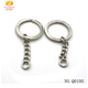 Custom designs Eco-friendly key chain parts metal key ring with chain