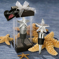 Elegant Starfish Design Bottle Stopper cheap Wedding Favors